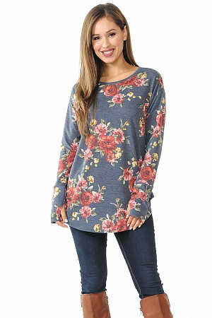 Round Bottom Long Sleeve Top
