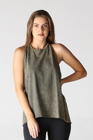 MINERAL WASH TWIST BACK TANK